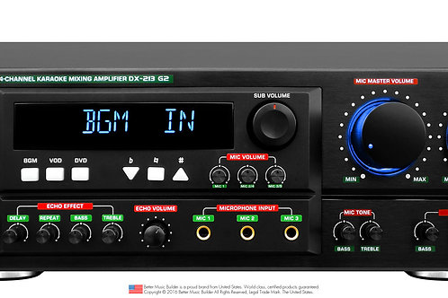 Better Music Builder » DX-213 600 watts G2 Karaoke Mixing Amplifier