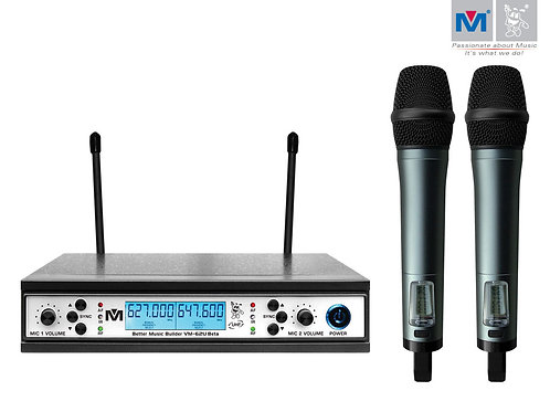 Better Music Builder » VM-62U Beta Dual Channel UHF Wireless Microphone System
