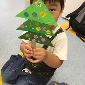 Toddler in Mandarin class