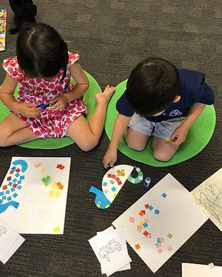 Children during class