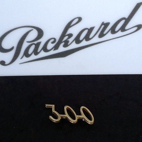 "Packard ""300"" Gold Plated Emblem"