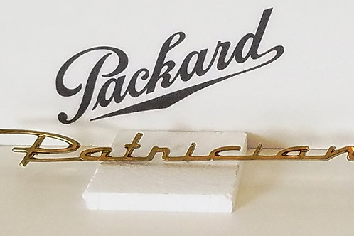 "Packard Gold Plated ""Patrician"" Trunk Script"
