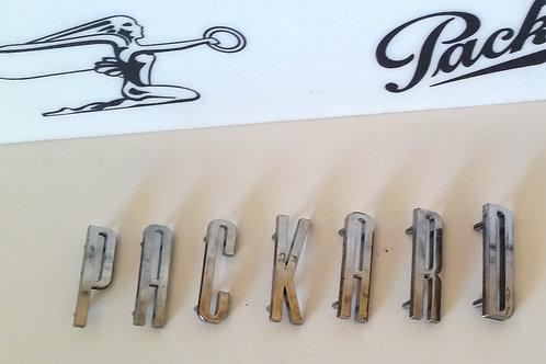 "1955 ""Packard"" Hood Letters"