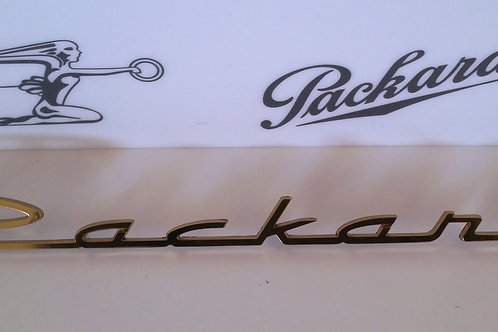 """1955-1956 """"Packard"""" Gold Plated Emblem NOS"""