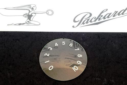 1940 Packard Speedometer Glass Face