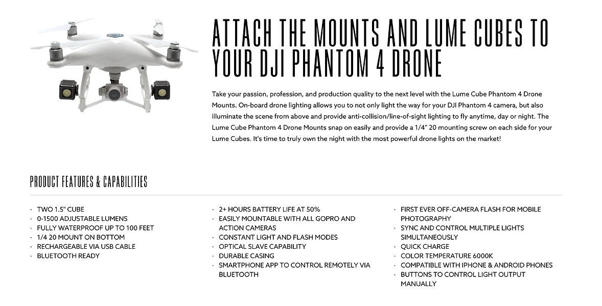Lume Cube for DJI Phantom 4