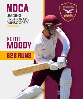 Moody wins leading run scorer race