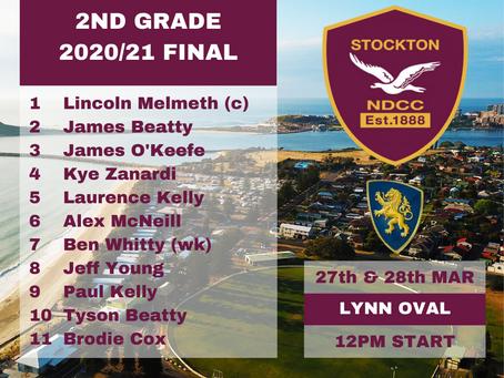 Second Grade Final Team Selected