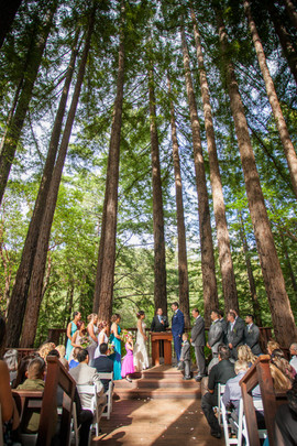 Wedding in the woods at Pema Osel Ling.j