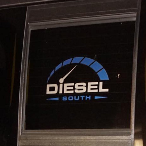 """Die Cut Vinyl """"Diesel South"""" Decal"""