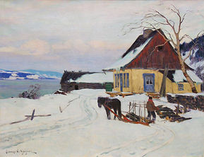 Clarence A. Gagnon - Farm on the Hill, ca. 1911