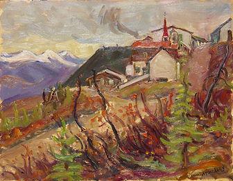 Town of Elsa, Yukon, 1964 oil on panel 1
