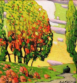 Marc-Aurele Fortin - Autumn Landscape, ca. 1925