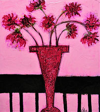 Gerbera, acrylic on can 40 x 36.JPG