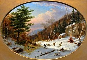 Cornelius Krieghoff - Lorette Indians, Near Quebec, ca. 1860