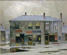 A.J. Casson - Soleil d'hiver, Vieux Toronto, vers 1960