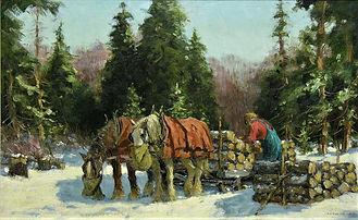 Frederick S. Coburn - Le bois cordé, 1942