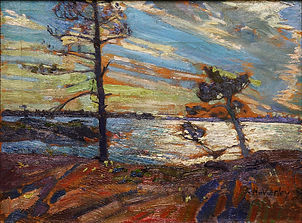 Frederick H. Varley - Sun and Wind, Georgian Bay, ca. 1915