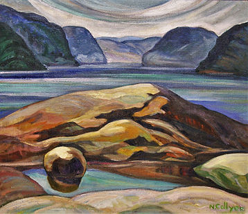 Indian Rock, 1950 oil on can 26.25 x 30.25.JPG