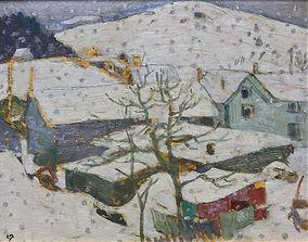 Edwin Holgate - Lazy Snow, 1938