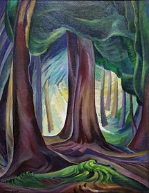 Emily Carr - Trees, Goldstream Flats (1931-1932)