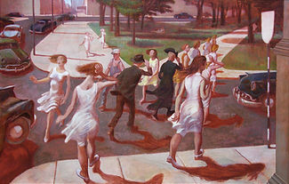 Philip Surrey - Crossing the Street, Dominion Square, 1953