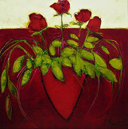 Roses sur table, 40x40.jpg