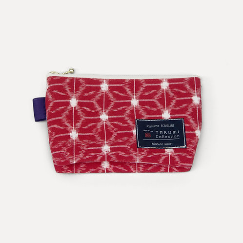takumi collection hand-knitted pouch red