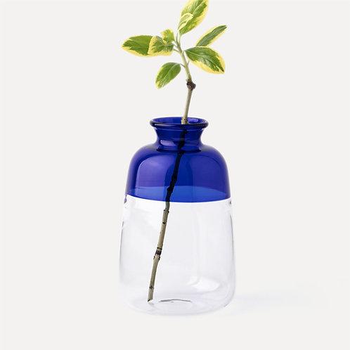 Homestead 2-Tone Glass Vase (Blue)