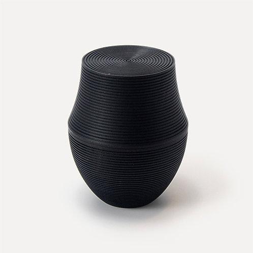Gato Mikio Shoten - Karmi Handmade Tea Canisters - Kama-Sumi (Medium)