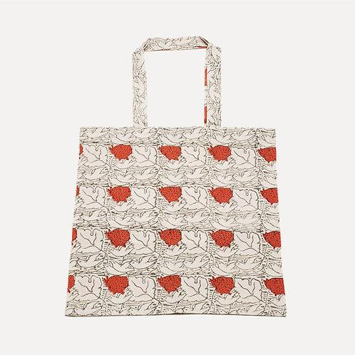 people tree hand-printed strawberry bird bag