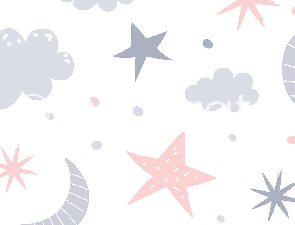 Nursery Baby Patterned Wallpaper