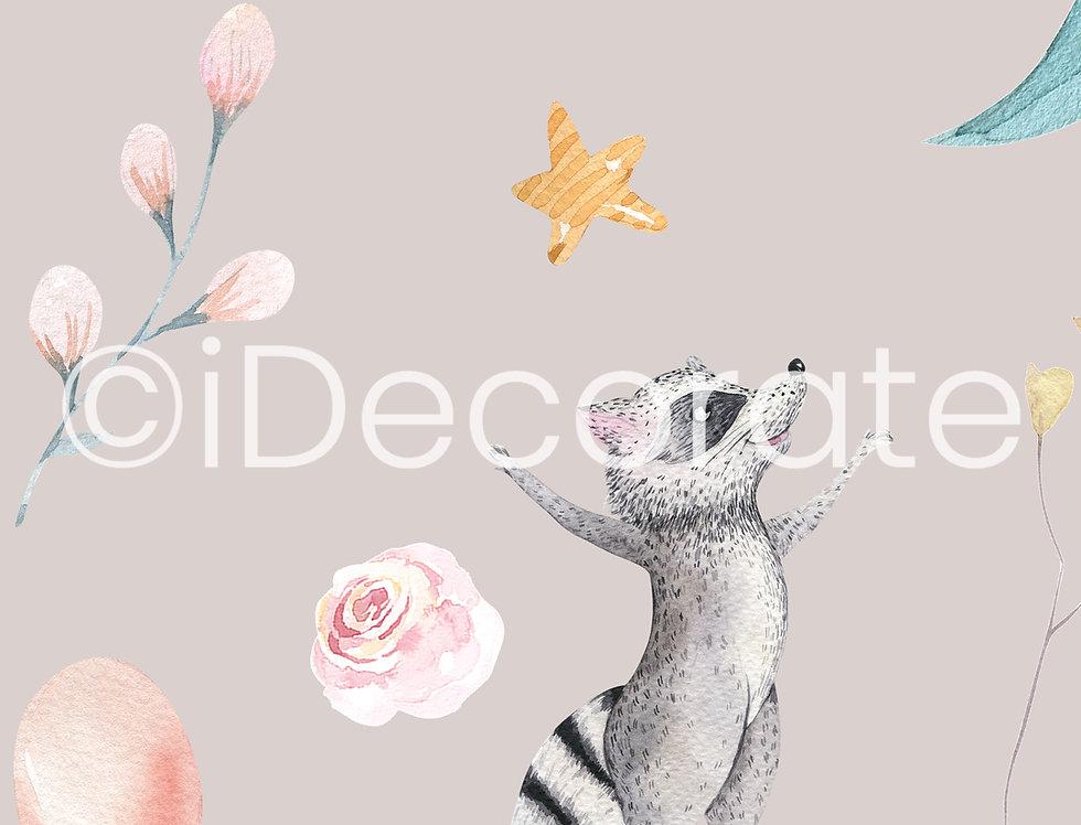Racoon And Deer Wallpaper