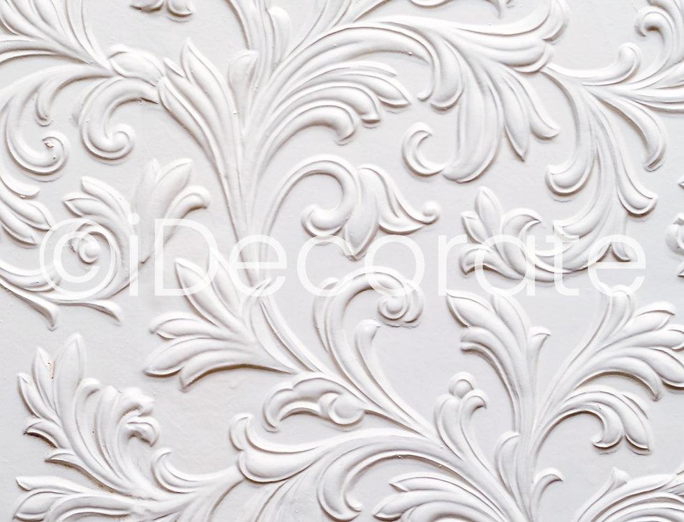 Embossed Floral Wallpaper