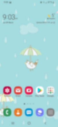 Mobile phone screenshot for Cute Birds Flying wallpaper