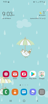 Mobile phone screenshot for Cute Birds Flying wallpaper
