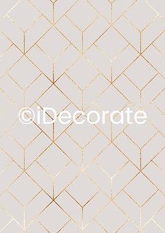 Elegant Gold Hexagon Wallpaper