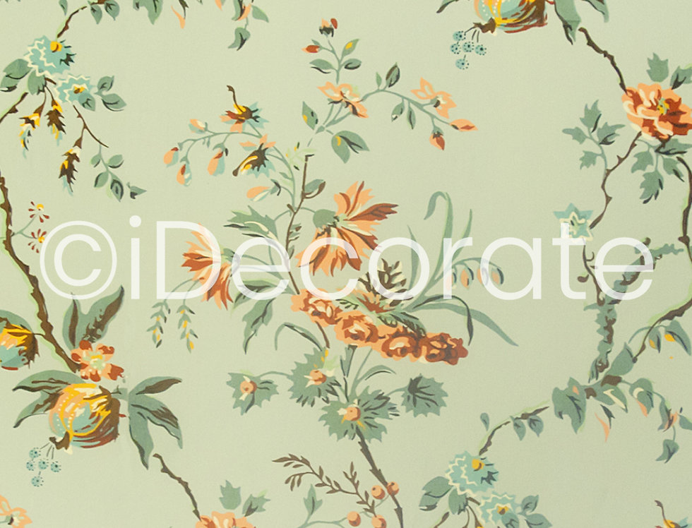 18th Century Floral Wallpaper