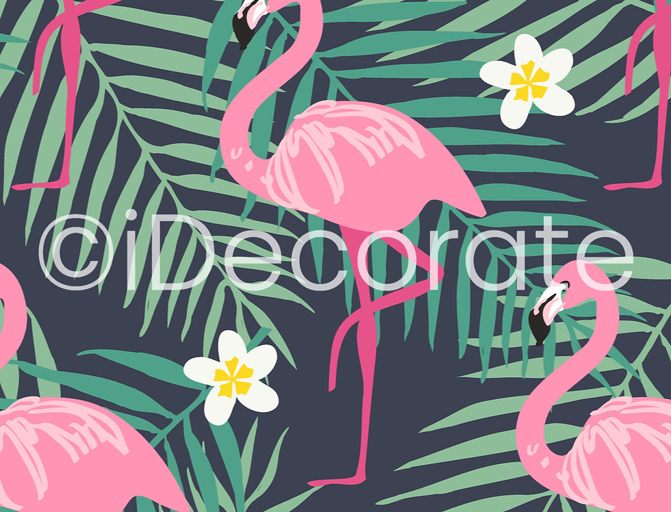 Flamingo Patterned Wallpaper