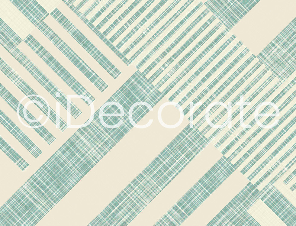 Turquoise Striped Wallpaper