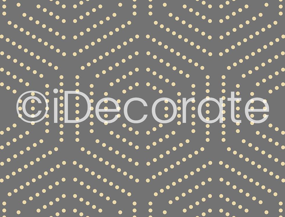 Hexagon Dotted Wallpaper