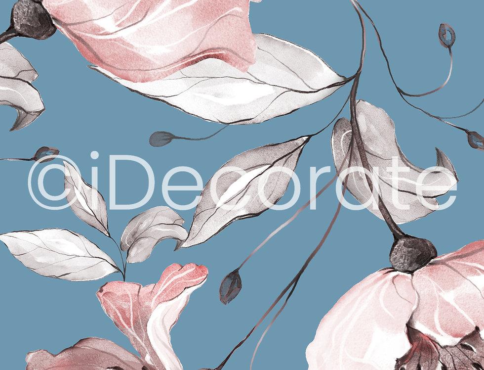 Spring Rose Botanic Wallpaper