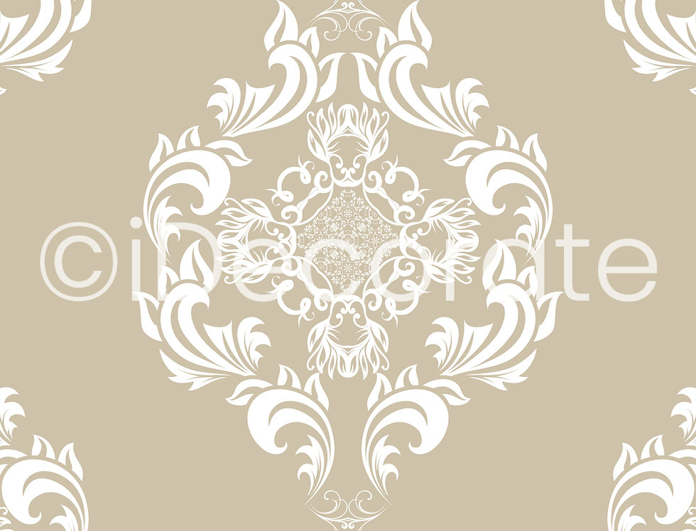 Seamless White Floral Wallpaper