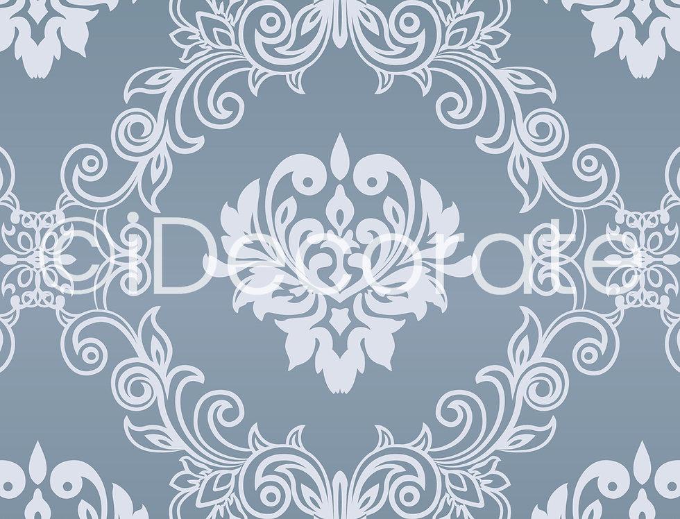 Damask Seamless Patterned Wallpaper