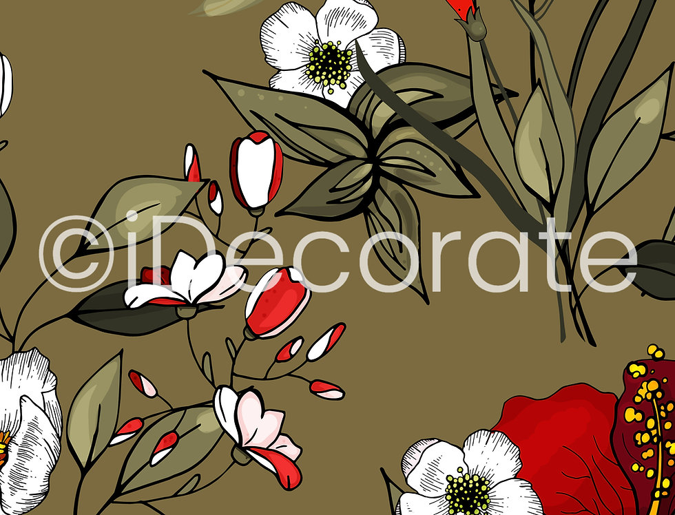 Blossom Floral Wallpaper