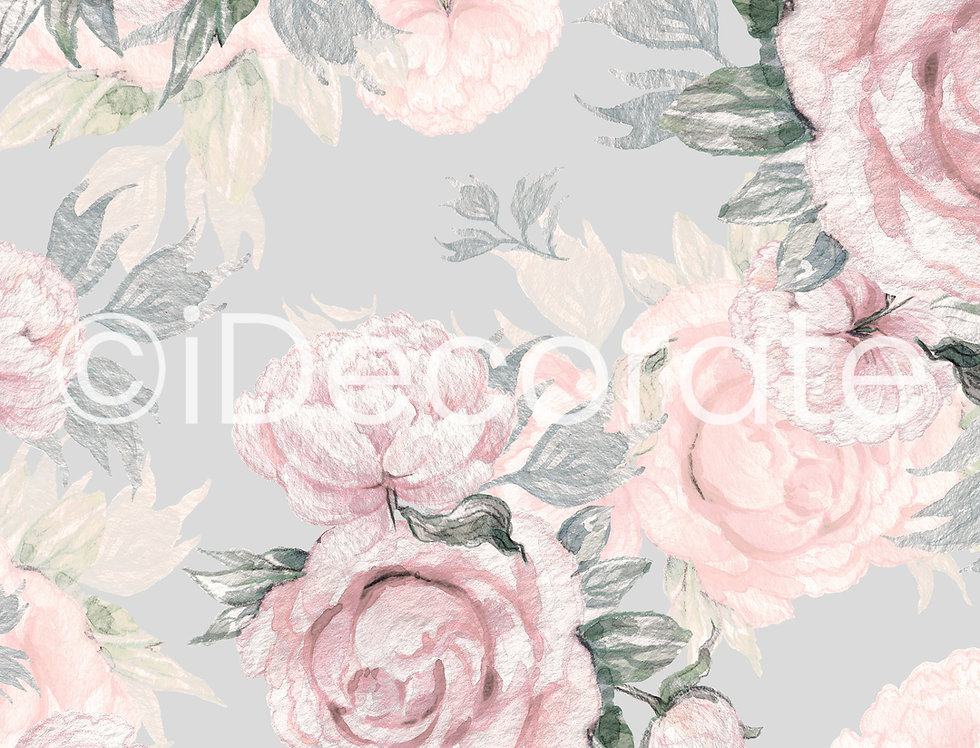Bright Peonies And Foliage Wallpaper