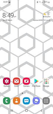 Mobile phone screenshot of Geometic Patterned wallpaper