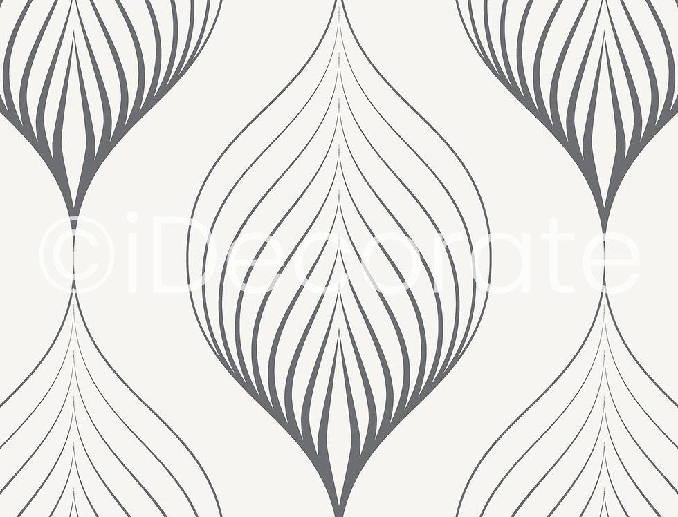 Linear Leaves Wallpaper