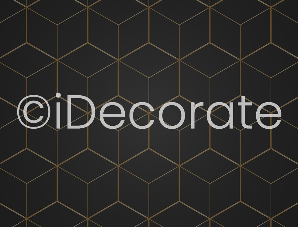 3D Gold Geometric Wallpaper