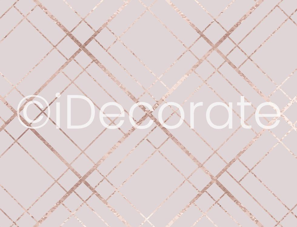Rose Gold Art Deco Wallpaper